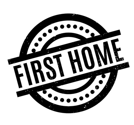 first house: First Home rubber stamp