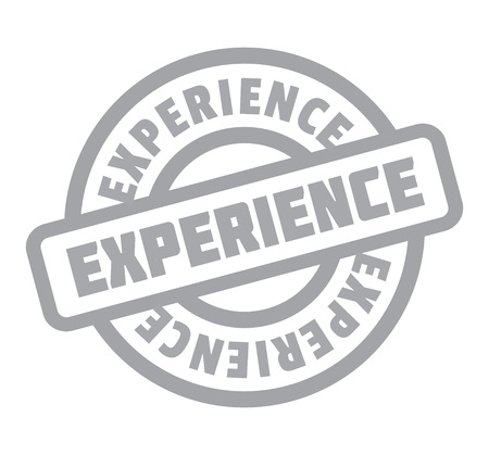 Experience rubber stamp