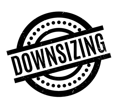 Downsizing rubber stamp