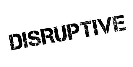 interruption: Disruptive rubber stamp Illustration