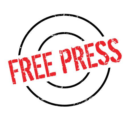 Free Press rubber stamp Illustration