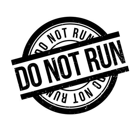 scamper: Do Not Run rubber stamp