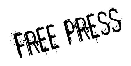 Free Press rubber stamp