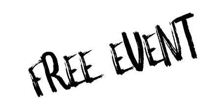 Free Event rubber stamp. Grunge design with dust scratches. Effects can be easily removed for a clean, crisp look. Color is easily changed. Stock Photo