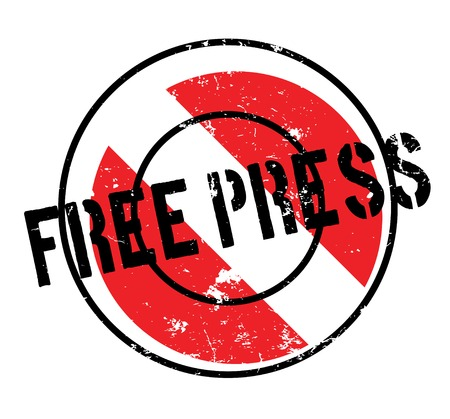 Free Press rubber stamp Illustration