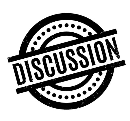 Discussion rubber stamp Illustration