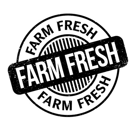 Farm Fresh rubber stamp