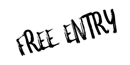 Free Entry rubber stamp
