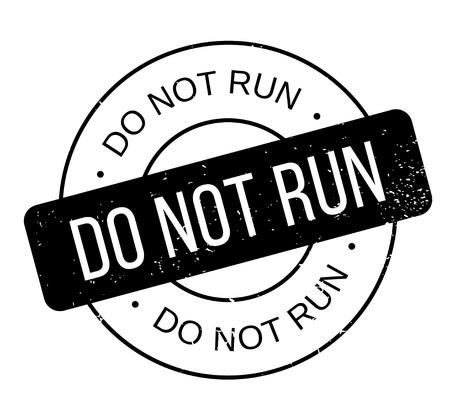 Do Not Run rubber stamp Stock fotó - 82775401