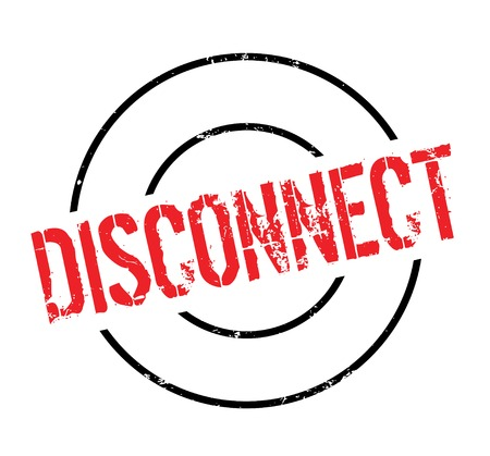 Disconnect rubber stamp