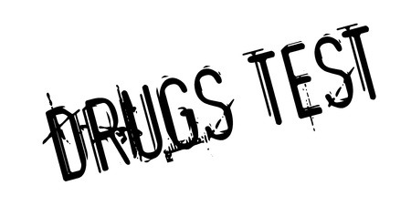 Drugs Test rubber stamp