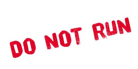 Do Not Run rubber stamp Stock fotó - 82775484