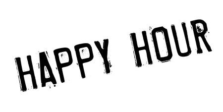 Happy Hour rubber stamp Illustration