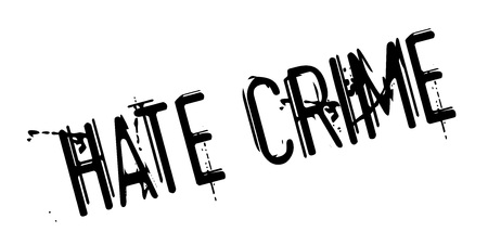 Timbro di gomma del crimine dell'odio Vettoriali
