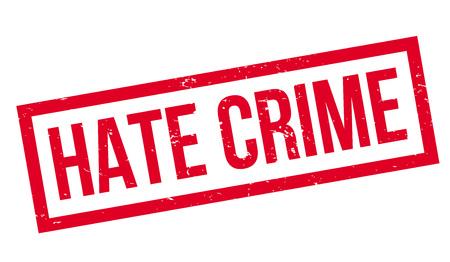 Hate Crime rubber stamp Illustration