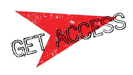 Get Access rubber stamp Illustration