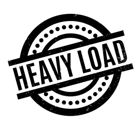 Heavy Load rubber stamp Illustration