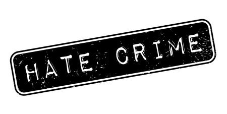 Hate Crime rubber stamp Vektoros illusztráció