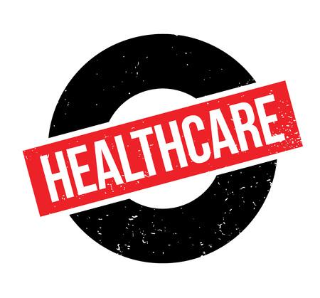 Healthcare rubber stamp Illusztráció