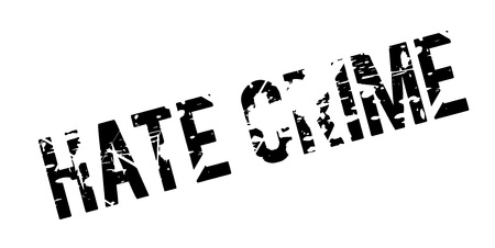 Hate Crime rubber stamp