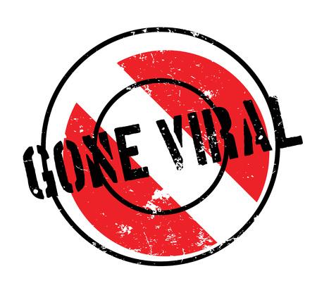 Gone Viral rubber stamp
