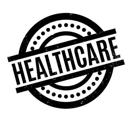 Healthcare rubber stamp Illustration