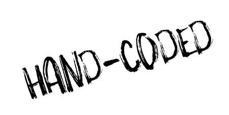 Handcodes rubberen stempel. Grunge ontwerp met stof krassen. Effecten kunnen gemakkelijk worden verwijderd voor een schone, frisse uitstraling. Kleur is gemakkelijk te veranderen. Vector Illustratie