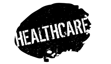 Healthcare rubber stamp. Grunge design with dust scratches. Effects can be easily removed for a clean, crisp look. Color is easily changed.