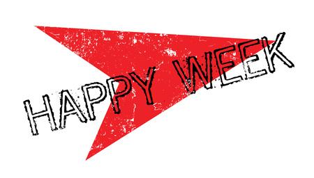 Happy Week rubber stamp