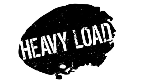 Heavy Load rubber stamp. Grunge design with dust scratches. Effects can be easily removed for a clean, crisp look. Color is easily changed. Illustration