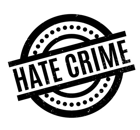 violation: Hate Crime rubber stamp. Grunge design with dust scratches. Effects can be easily removed for a clean, crisp look. Color is easily changed.
