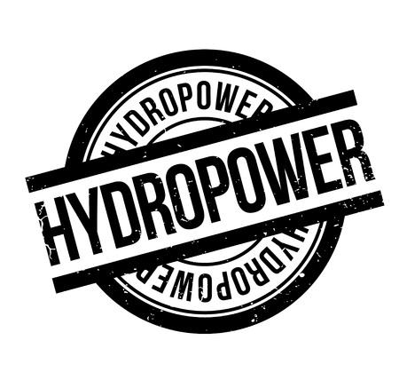 Wasserkraft Stempel Standard-Bild - 83074972
