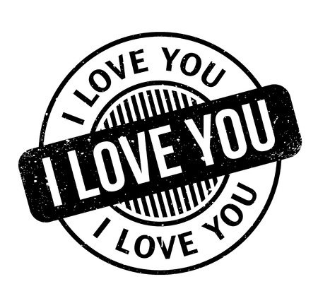 flirting: I Love You rubber stamp Stock Photo