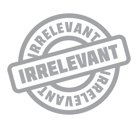 Irrelevant rubber stamp Stock Vector - 82980761