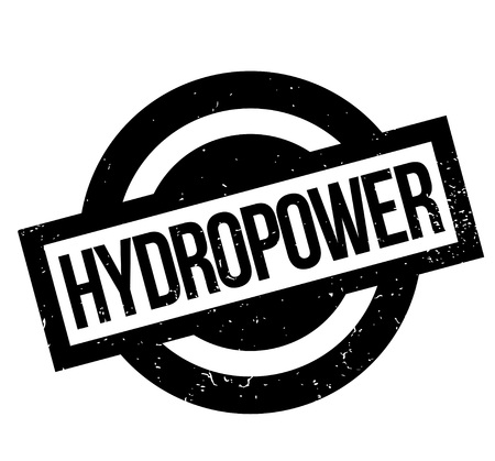 Wasserkraft Stempel Standard-Bild - 82981019