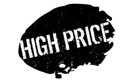 upmarket: High Price rubber stamp