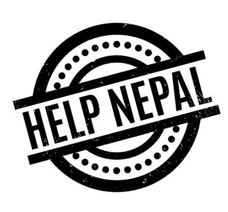 Help Nepal rubber stamp