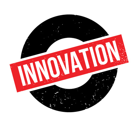 Innovation rubber stamp illustration.