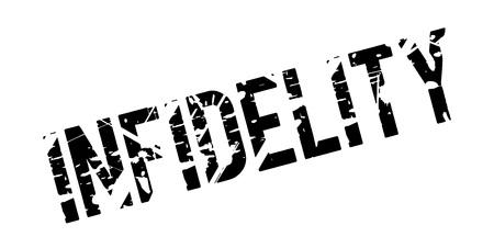 Infidelity rubber stamp Stock Photo - 82980815