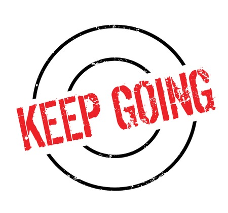 motivated: Keep Going rubber stamp