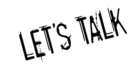 let s: Let us Talk rubber stamp Stock Photo