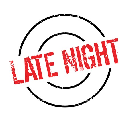 Late Night rubber stamp Stock Photo - 83010106