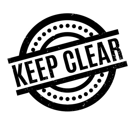Keep Clear rubber stamp