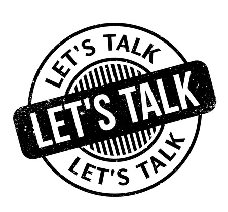 Let us Talk rubber stamp Illustration