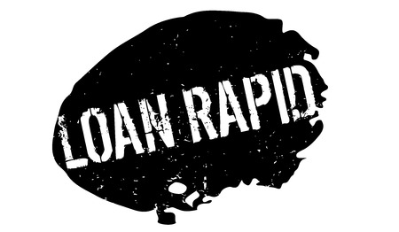 Loan Rapid rubber stamp Stock Photo