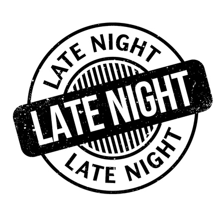 hectic: Late Night rubber stamp