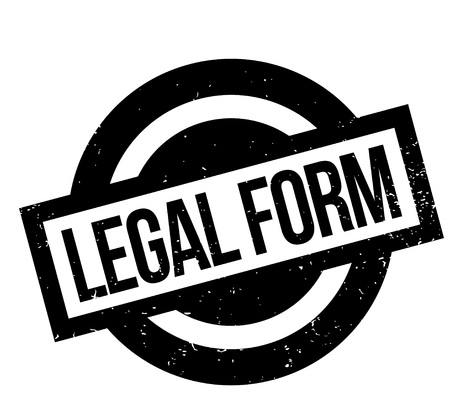 legitimate: Legal Form rubber stamp