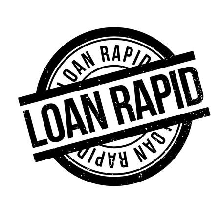Loan Rapid rubber stamp Banco de Imagens - 82987439