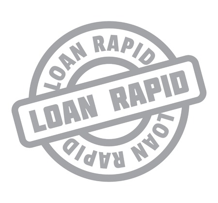 Loan Rapid rubber stamp Ilustrace