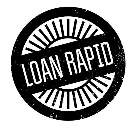 hurried: Loan Rapid rubber stamp Illustration